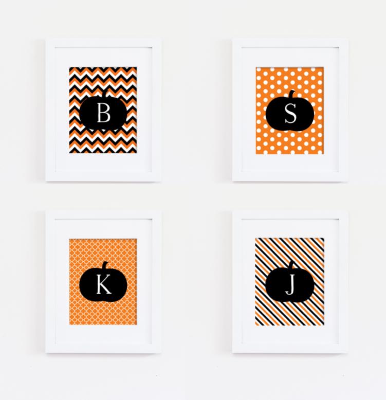 Monogram Halloween Print