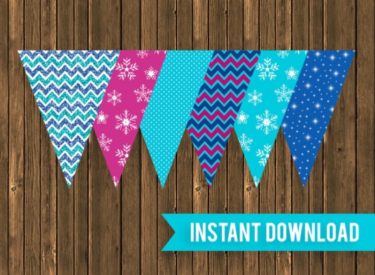 Printable Pennant Banners